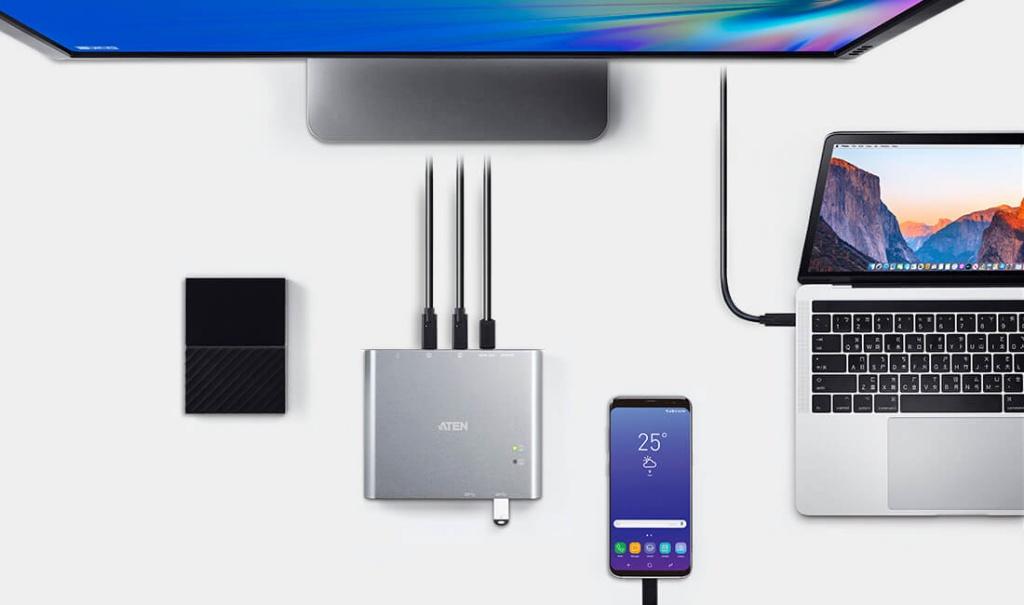 USB-C Док-коммутатор US3310 ATEN – Превосходное качество видео и сверхбыстрая скорость передачи данных