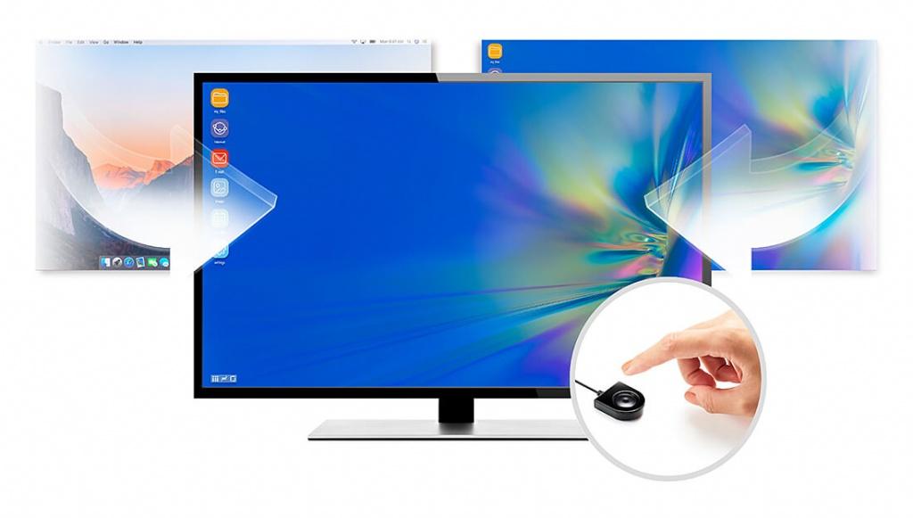 USB-C Dock Switch US3310 – Быстрое 2-х секундное переключение с помощью одной кнопки