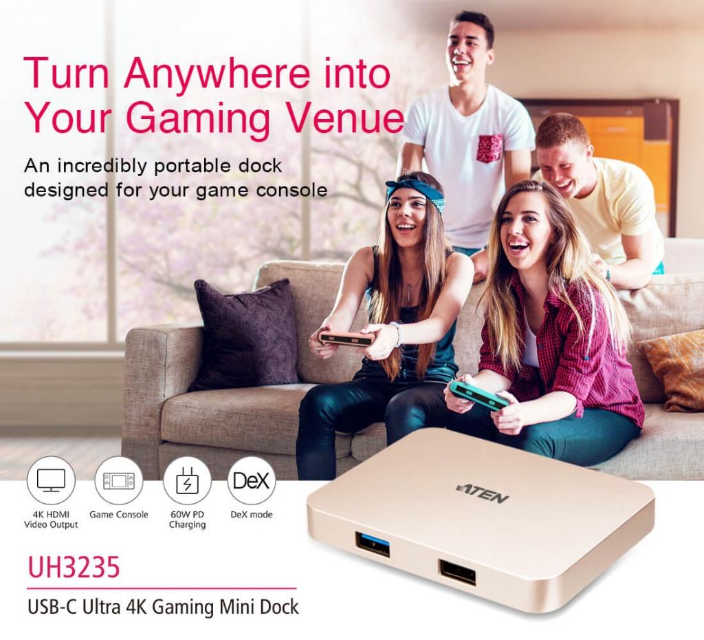 UH3235 USB-C Ultra 4K Gaming Mini Dock – настоящий подарок для геймеров