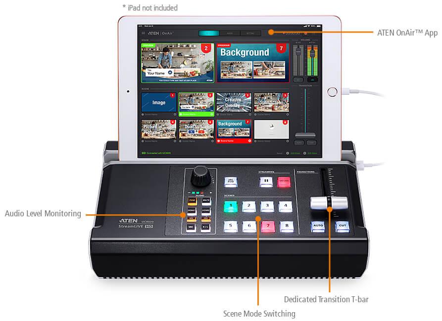 StreamLIVE HD UC9020 – Интуитивно понятный, от Start до Finish