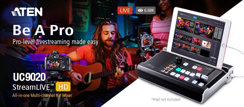 AV Микшер ATEN UC9020 Stream LIVE HD - Потоковая трансляция живого видео профессионального уровня легко и просто